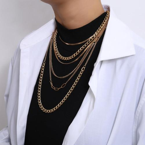 Multi Layered Tassel Snake Choker Necklace Long Chain Necklace