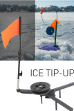 2Pcs Foldable Winter Ice Fishing Tool Flag Kayak Tip-Up Flag