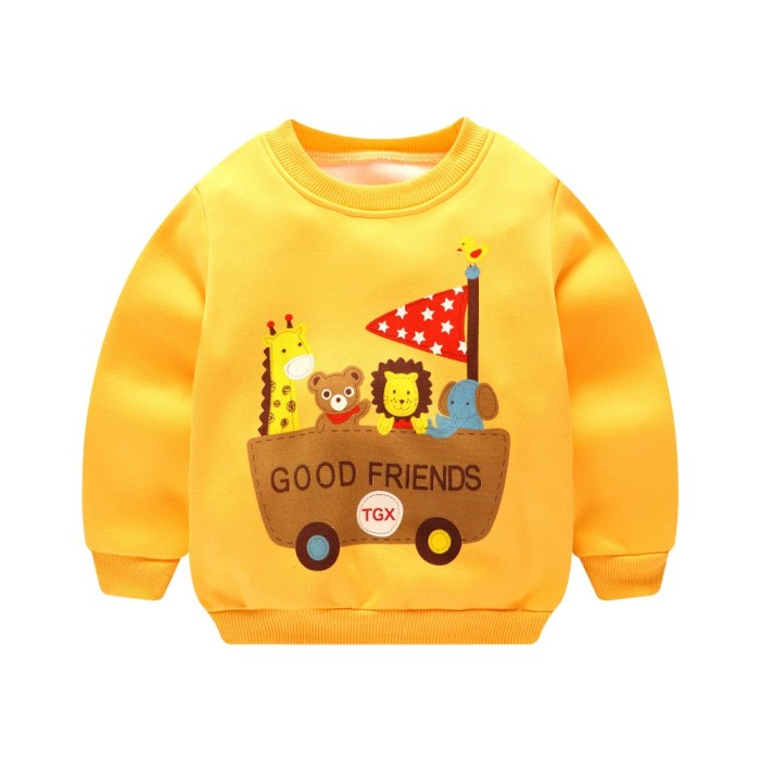 Baby Boys Hoodies Sweatshirt Kids Long Sleeve Casual Outwear
