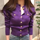 Single-Breasted Sweaters Cardigans Slim Long Sleeve Knitted Clothes