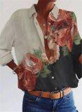 Long Sleeve Shirt Woman Loose Casual Top