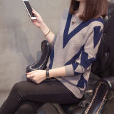 Women Slim Knitting Pullovers Loose Sweater