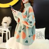 Knit Plush Sweater Women Oversize Turtleneck Pullovers