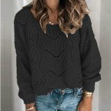 Women Hollow Loose Sweater Casual Elegant OL Outfits