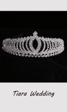 Princess Tiara Crystal Wedding Crown Hair Ornament