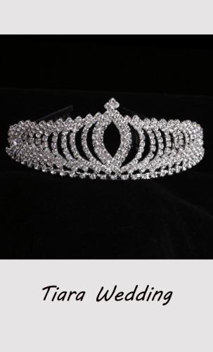 Princess Tiara Crystal Wedding Crown Hair Ornament