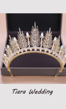 Wedding Crown Bridal Headpiece Rhinestone Crystal Diadem Princess Tiaras
