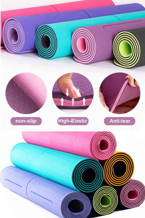 TPE Yoga Mat 6mm Non-slip Mat With Position Line
