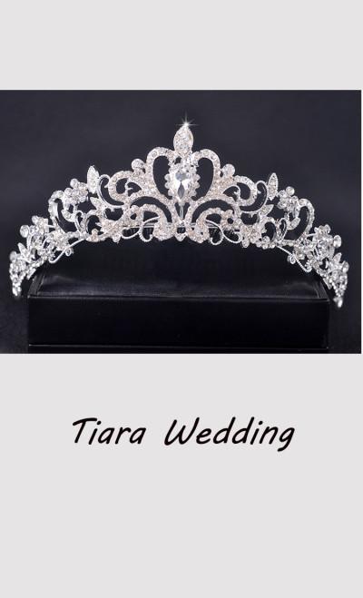 Bridal Princess Crown Headband Crystal Tiaras Wedding Jewelry Hair Accessories