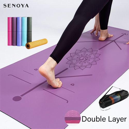 TPE Yoga Double Layer Non-Slip Mat Yoga Exercise Pad