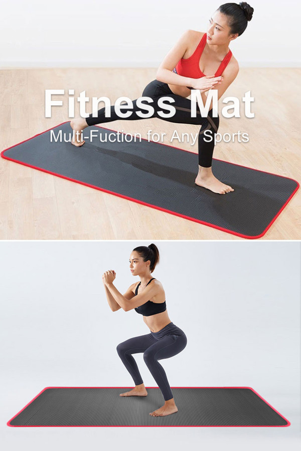 10 mm Extra Thick Non-slip Yoga Mat Sports Fitness Pads