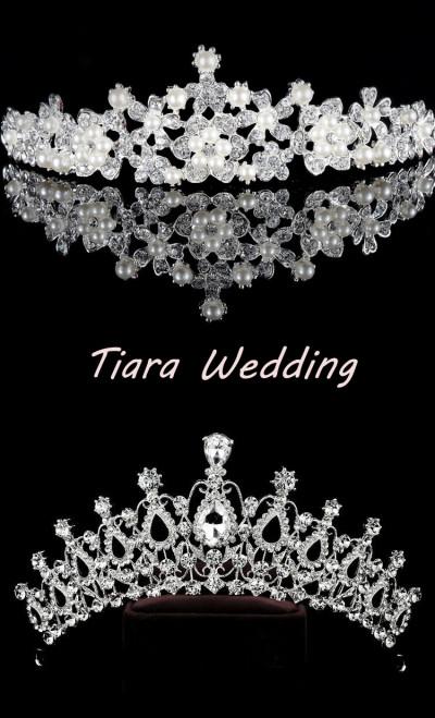 Princess Tiara Crown Crystal Rhinestone Wedding Accessories