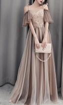 Bridesmaid Dresses Shining Sequin Appliques Wedding Party Dress