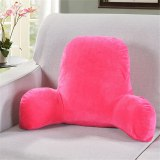 Plush Backrest Cushion with Arms Reading Rest Pillow Lumbar Pillow