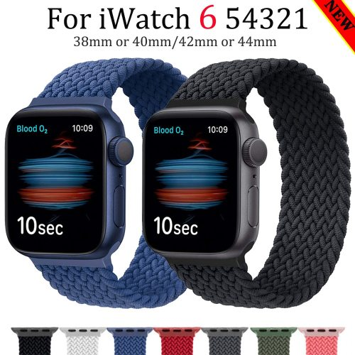 Braided Solo Loop Fabric Nylon Elastic Belt Bracelet for Apple Watch