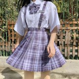 JK Uniform Y2K High Waist Pleated Skirts Mini Plaid Skirt