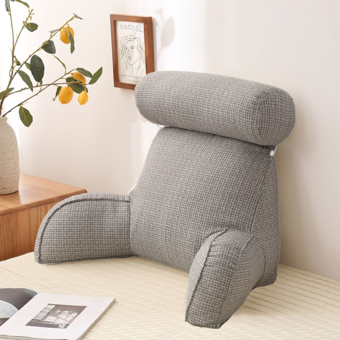 Reading Pillow with Arms Sofa Support Back Support Cushion