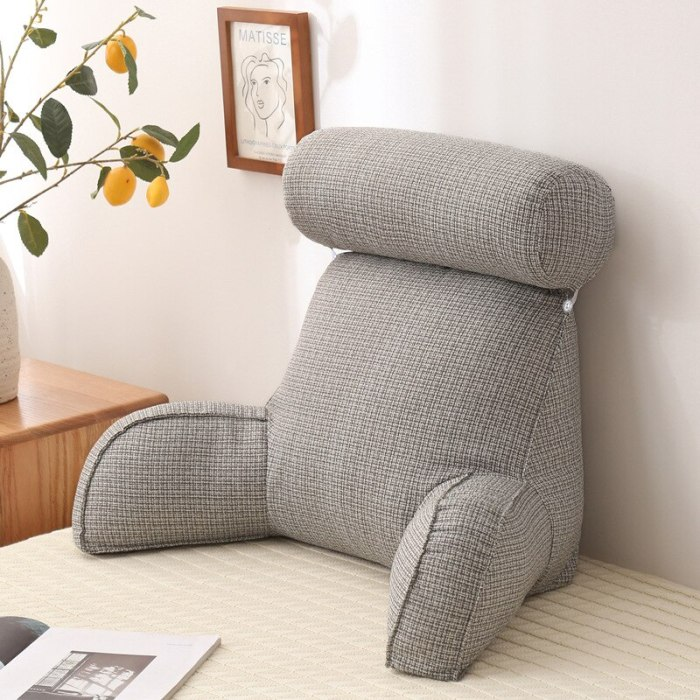 Backrest Reading Pillow with Arms Back Cushions Pain Relief Pillows