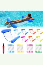 Foldable Water Hammock Swimming Pool Inflatable Air Mattress