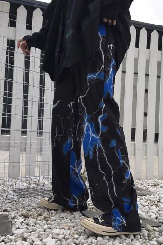 Y2K Women's Wide Leg Pants Hip Hop Joggers