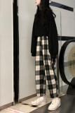 Harajuku Plaid Pants Harem Pants Causal Pants for Women