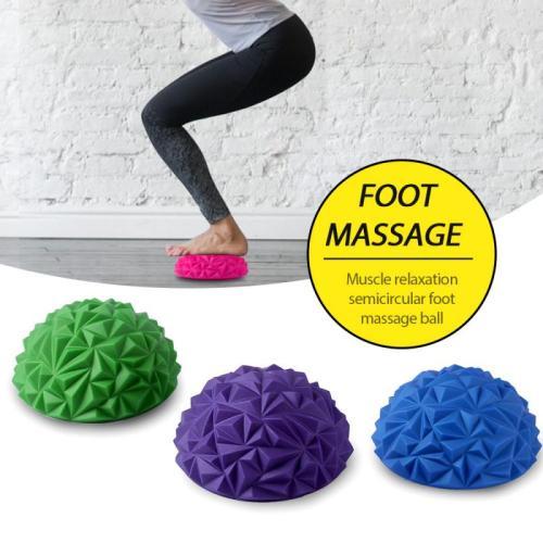 Yoga Ball Anti-Slip Foot Massage Ball Half Ball Massage Mat