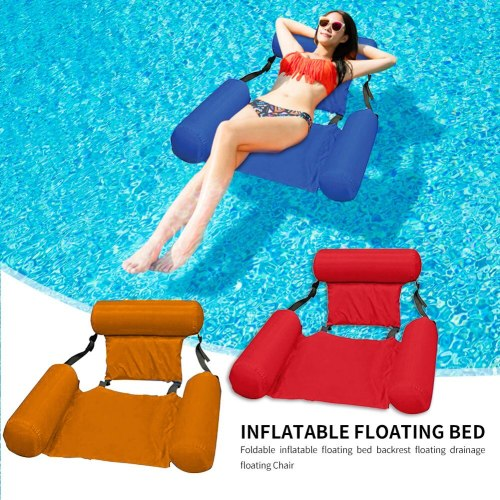 Water Hammock Recliner Swimming Pool Inflatable Mat  Air Mattresses