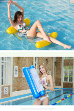 Foldable Floating Water Hammock Float Lounger Chair