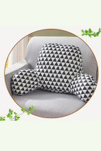Backrest Reading Pillow Waist Support Cushion with Arm