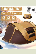 Waterproof Windproof Camping Tent Family Auto Pop-up Tent