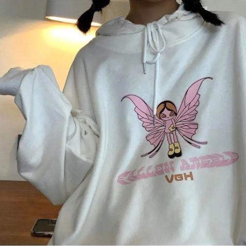 Loose Sweatshirts Hoodies Women Hooded Oversize Pullover