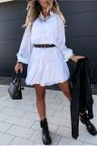Elegant Ruffle Sleeve Party Dresses Women Petticoat Mini Dress