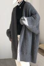 Women's Bat Sleeve Cardigans Oversize Knitwear Tops