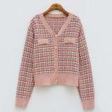Vintage Knitted Cardigans Women Tweed Sweater