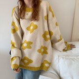 Knitted Sweater Loose Pullover Long Sleeve Oversized Sweater
