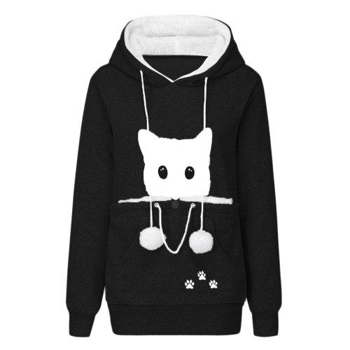 Puppy Holder Animal Pouch Pullover Sweatshirt