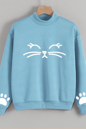 Women Hooded Long Sleeve Casual Pullover Sweatshirt
