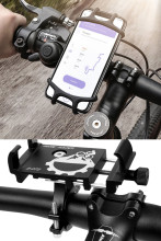 Bicycle Phone Holder Universal Bike Motorcycle Handlebar Clip Stand