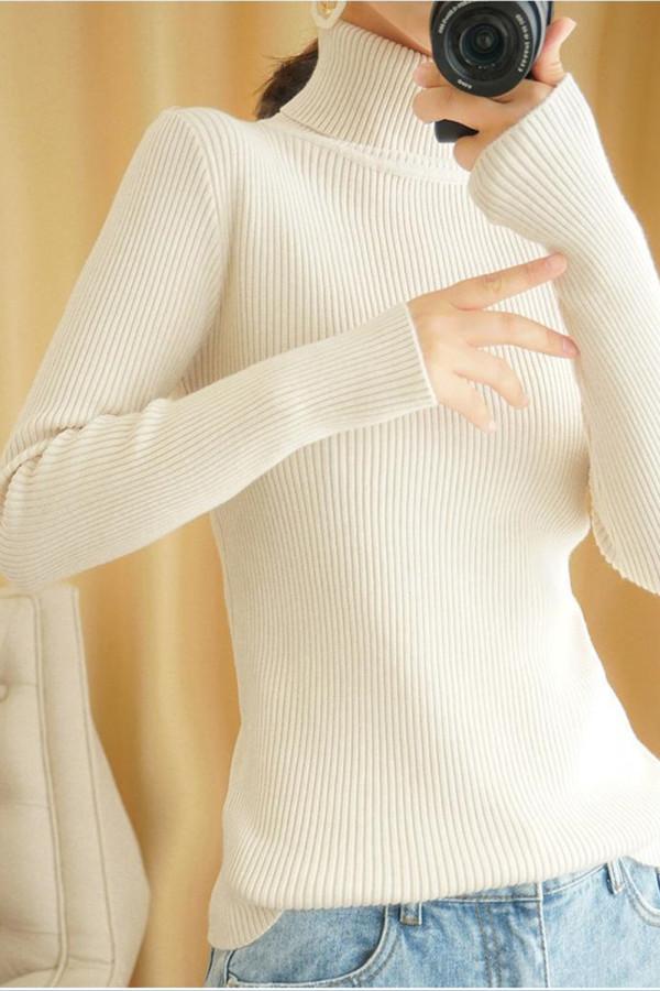 Slim Women Pullover Knitted Sweater Jumper
