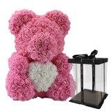 40cm Bear of Roses Artificial Flowers Home Wedding Festival Decoration
