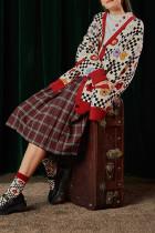 Women Loose Knit Cardigan Vintage Jumpers