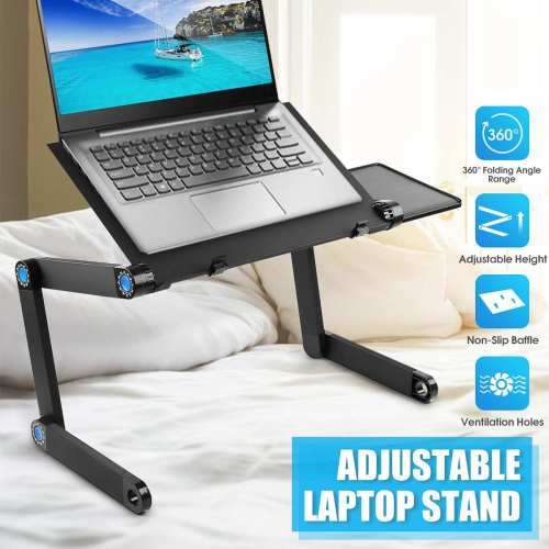 Aluminum Laptop Holders Folding Table Computer Desk Stand for Bed