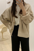 Women's Oversized Sweaters V-Neck Buttons Cardigans