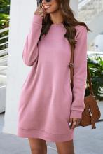 Women's Sweatshirt Dress with Pockets Mini Dress