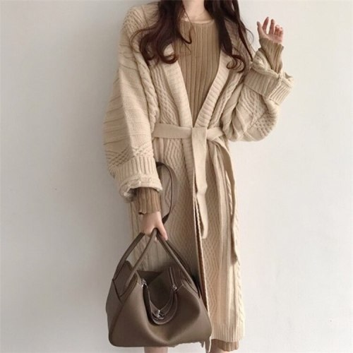 Women's Casual Sweater Knitted Long Cardigans
