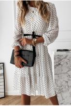 Polka Dot Party Dress Women Bohemian Chiffon Dress