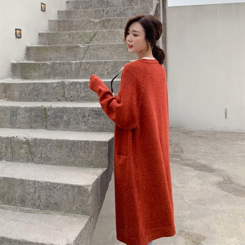 Women's Minimalist Solid Colors Oversize Long Cardigans