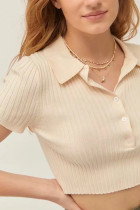 Women Cardigan Button Up Sexy Crop Sweater
