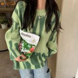 Print Knitted Sweater Elegant Striped Oversized Pullovers