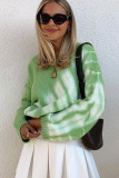 Tie Dye Knitted Sweater Oversize Pullovers Jumper